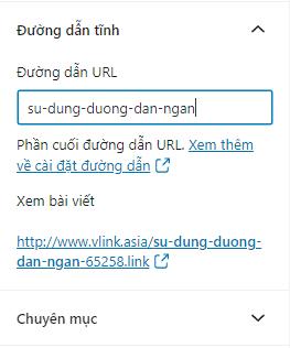 Shorter URLs