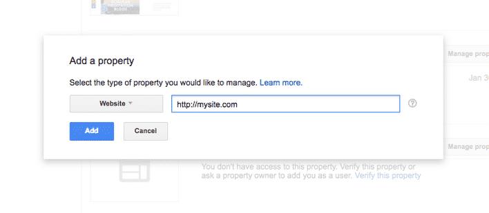 Thêm website của bạn vào Google Search Console