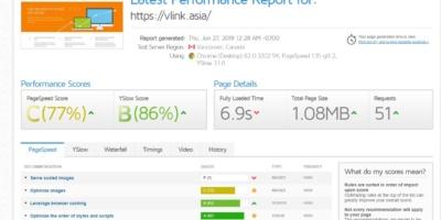 GTMetrix là công cụ kiểm tra tốc độ trang web.