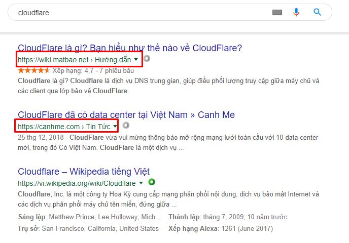 Hiển thị Breadcrumb trên Google Search