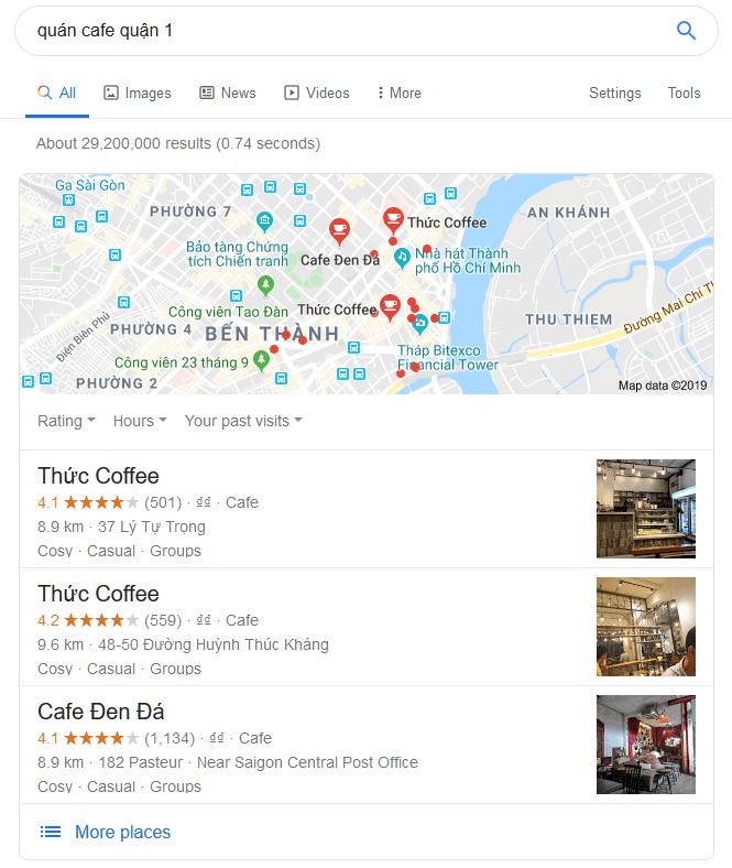 SEO local, dịch vụ xác minh map