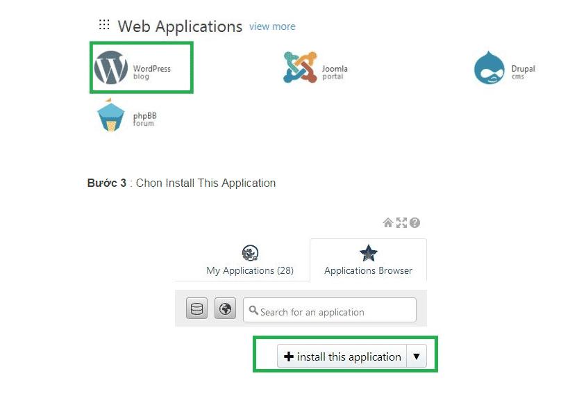 Cài WordPress tự động trên Hosting Godaddy