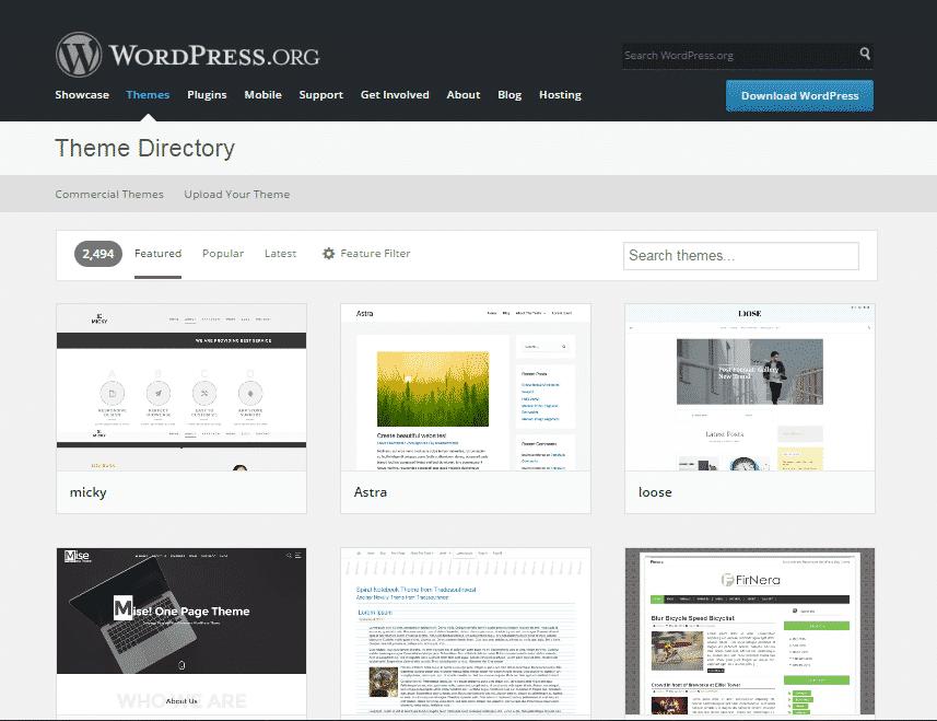 Cài theme WordPress