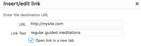 Open link in a new tab