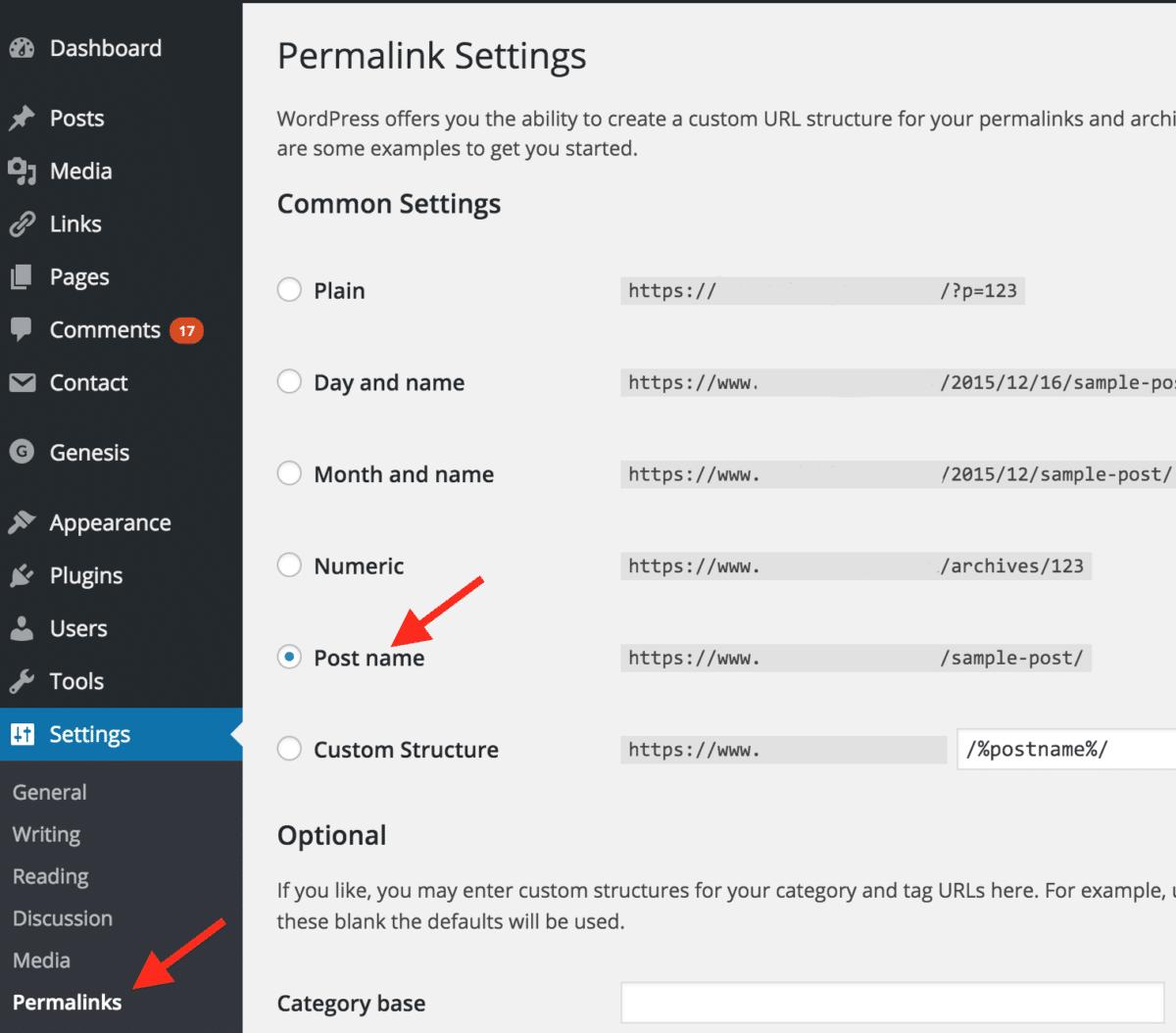Cách thay đổi Permalink tự động hỗ trợ tối ưu SEO Webside WordPress