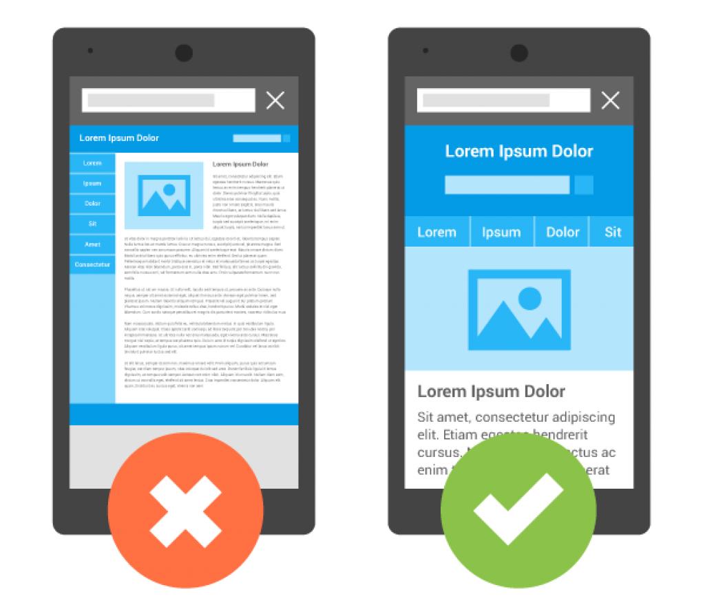 Google ưu tiên các thiết kế website thân thiện với giao diện trên di động