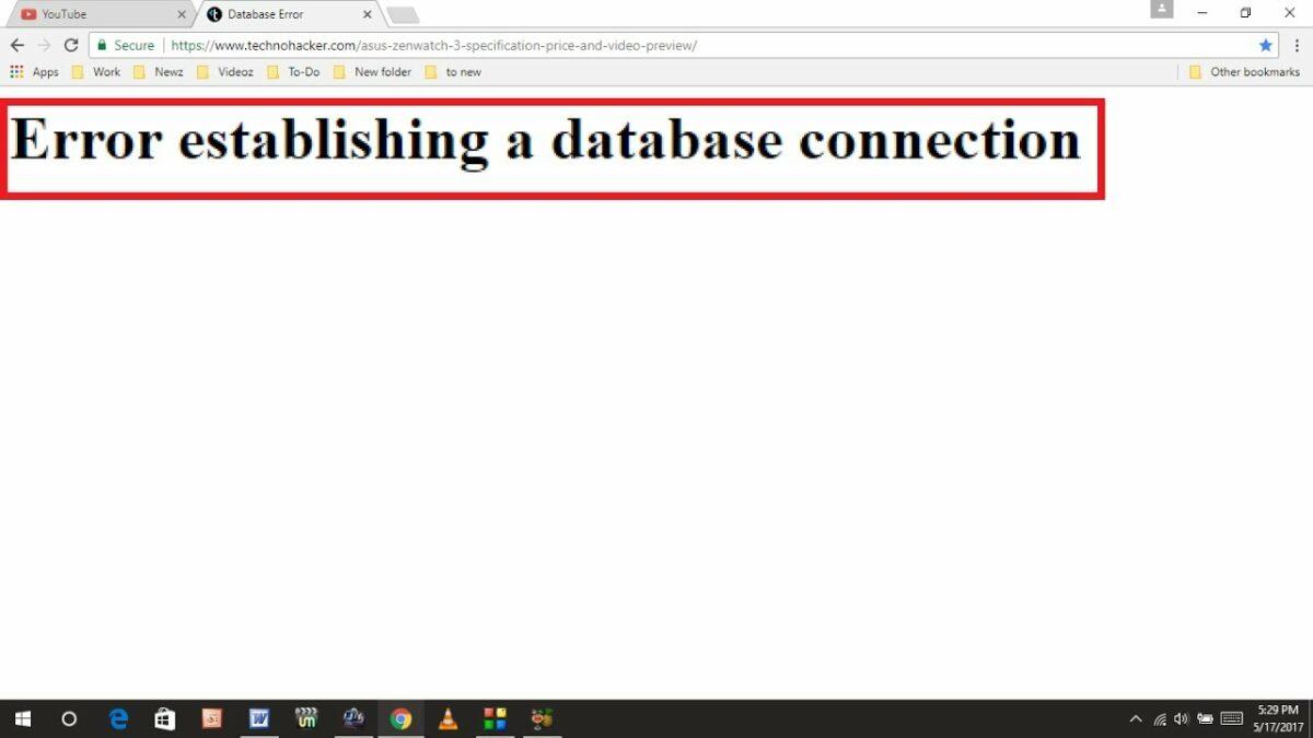 Lỗi kết nối cơ sở dữ liệu là sai lầm cơ bản sẽ ảnh hưởng đến thứ hạng SEO website