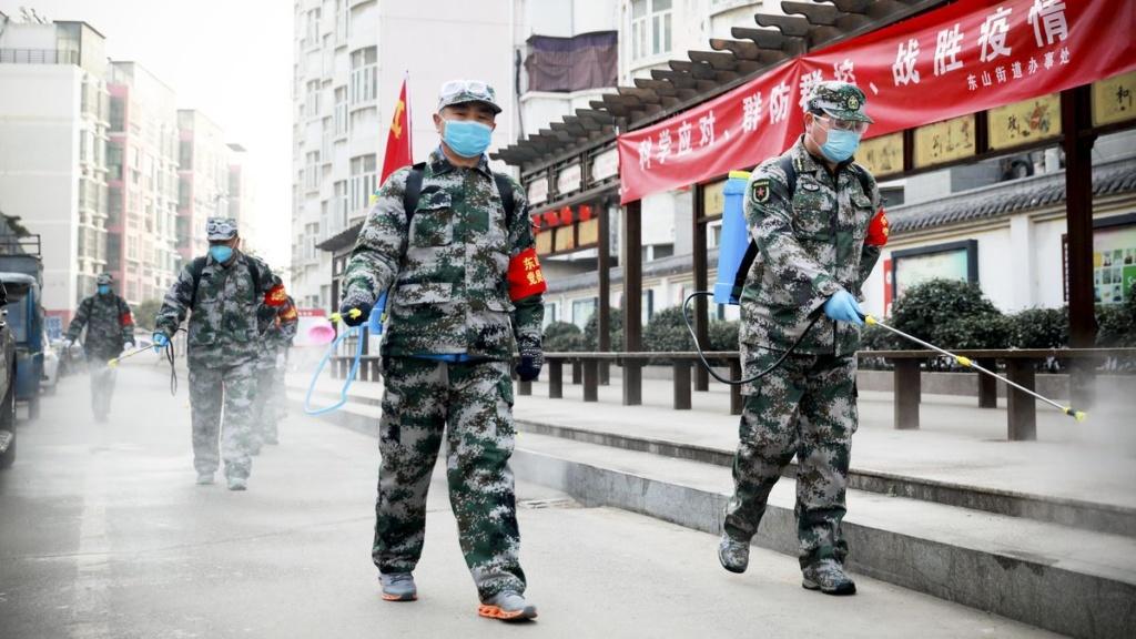 Hoạt động khử trùng phòng chống dịch bệnh tại Trung Quốc.