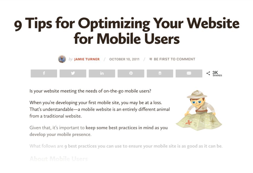 Cách X tối ưu trang web của bạn cho thiết bị di động