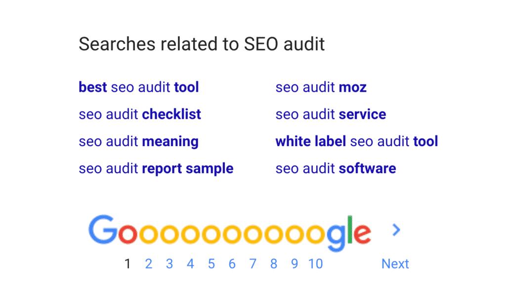 """Các tìm kiếm liên quan đến """"kiểm toán SEO"""""""